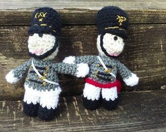 USMA, West Point Crochet doll, Cadet doll, Fristie Doll