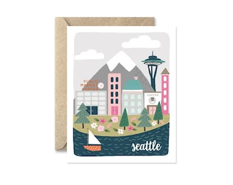 Seattle - Greeting Card