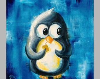 Juice Box - Super-Cute Penguin Print