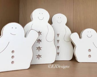 Snowman family, snowmen