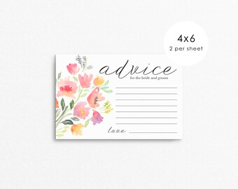 Wedding Advice Card for Bride and Groom / wedding advice cards / advice for the bride / advice cards / wedding advice / bride advice cards