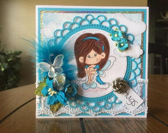 Any Occasion/Hugs/Friend Handmade Greeting Card