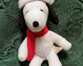 Snoopy Stuffed Christmas Ornament