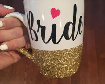 Bride Glitter Mug