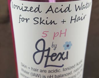 Beauty Water, Ionized Acid Water, Acid Water, hair water, acid rinse, hydrating water, natural hair, twistouts, hair, pH balanced, 5 pH