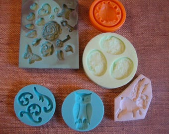 Set of 6 crafting molds