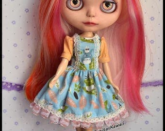 Dress for Blythe, Pullip Doll and Obitsu size M.