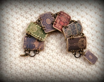 Book Bracelet - Book Jewelry - Book Lover - Bibliophile - Librarian Swag - Read the Book - Reader - Reading - Book Worm - Bracelet - Art
