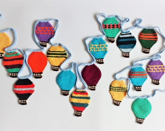 Knitting Pattern for Balloon Bunting