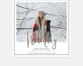 Holiday Mini Session Marketing Template for Photographers - Social Media Marketing Template - Christmas Mini Sessions - Instagram Template
