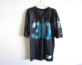 90's Vintage Champion #30 mesh football jersey Jaguars colorway | 40 (tag size) Small-Medium (fit) | Made in USA