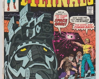 The Eternals #1 Origin and 1st appearance of The Eternals Jack Kirby Artwork & Script 1976 Bronze Age Marvel Comic Book