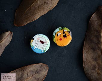 """Pair plugs Adventure time image wooden ear tunnels 4,5,6,8,10,12,14,16,18,25-60mm;6g,4g,2g,0g,00g;1/4,5/16,3/8,1/2,9/16,5/8,3/4,7/8,1 1/4,1"""""""