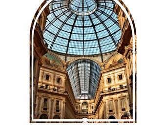 Printable Photography, Milan Italy PRINTABLE photo, Sun Filled Galleria Milan Italy printable photo, Italy architecture printable photo