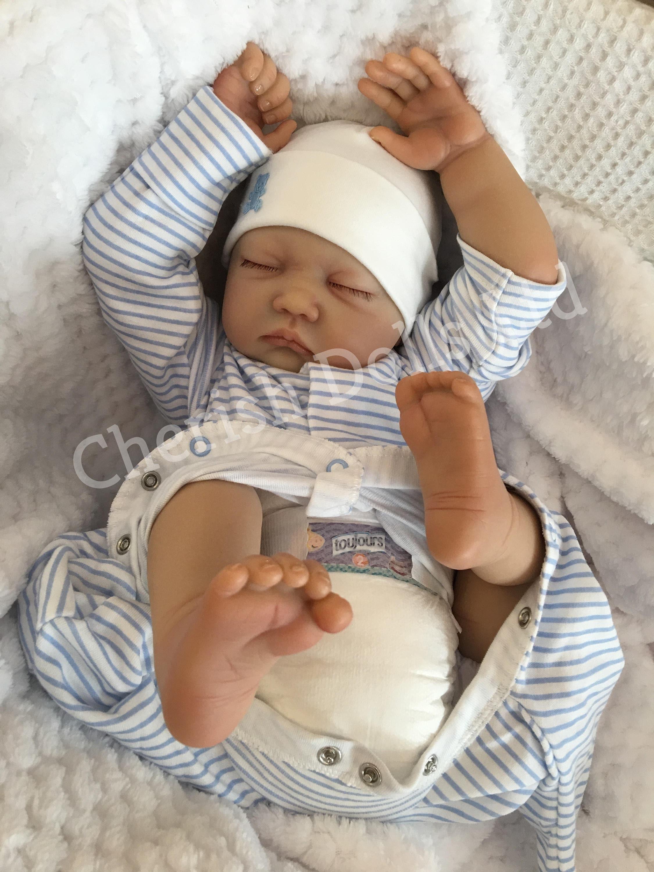 Reborn baby boy doll Noah 22 big newborn 4lbs genesis
