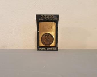 Zippo joe camel brass lighter