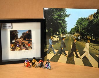 Picture of the Beatles LEGO minifigures compatible