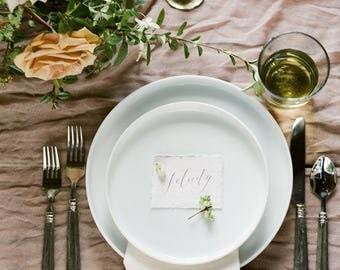 Calligraphy Place cards with Handmade paper
