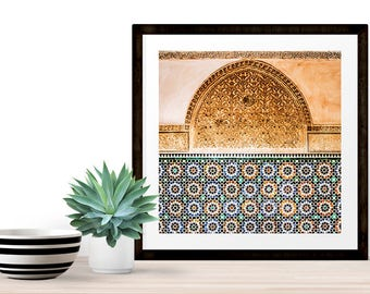 Photography + Black Frame - Moroccan architecture - Marrakech - Morocco