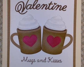 Valentine's Day Love you more than hot chocolate Mugs and Kisses Husband Wife Partner Secret Admirer Be my Valentine