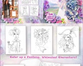 PRE-ORDER. A Coloring Book for Adults by Julia Spiri. Whimsical Wonders