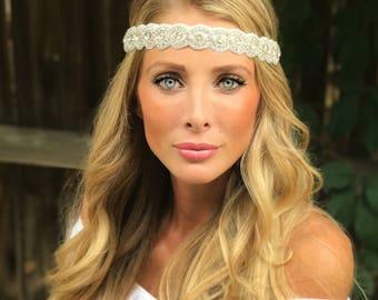 Rhinestone Headband, Best Seller, Holiday Hair Accessory,  Headband Or Choker, Wedding Headband
