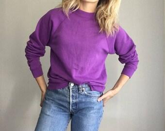 Vintage Thin Purple Sweatshirt- Soft & Awesome Cozy S/M