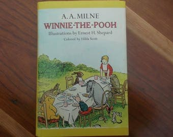 Vintage Children's Book - Winnie-The-Pooh by A.A. Milne and Illustrations by Ernest H. Shepard