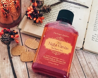 The Night Circus Mini Bubble Bath / Shower Gel / Body Wash - Book Lovers Gift