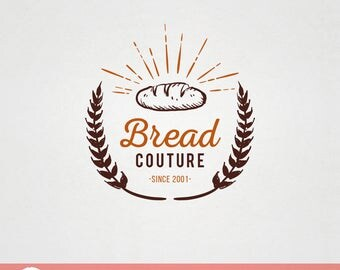 Custom Premade Food Logo Design - Bread Couture bakery patissiere logo F005