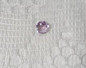 Rose De France Natural Round Cut Amethyst 1.71cts  8mm