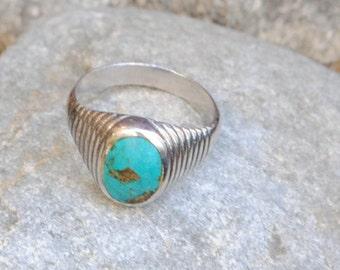 Native american man ring, turquoise man ring, turquoise ring, motard ring, navajo ring, navajo man ring, vintage man ring, men rings