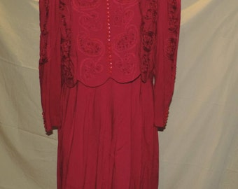 Kathie Lee for plaza south dress Crimson in color
