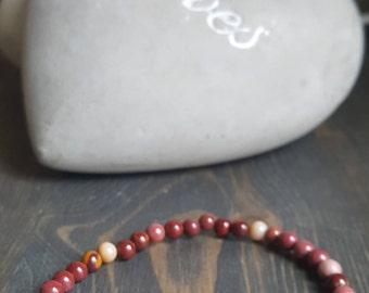 Bracelet Jasper mookaite delicate