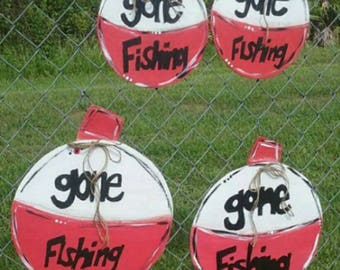 GONE FISHING Bobber sign