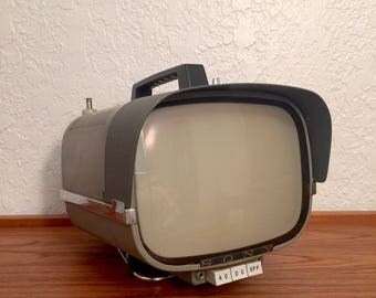 Vintage Space Age Sony 1961 8-301W Portable Television Made in Japan