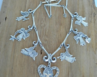 Jeep Collins Sterling Silver Angel Charm Necklace