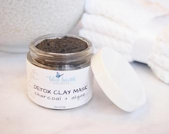 Charcoal Detox Mask, Charcoal & Algae Face Mask, Charcoal Mask, Face Mask, Acne Treatment