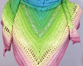 Crochet shawl scarf wrap....