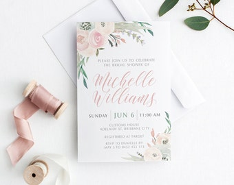Bridal Shower Invitation  | Printable Bridal Shower Template | bridal shower invitations | Bachelorette Weekend | Sophie Suite