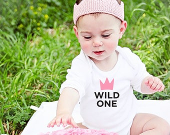 First Birthday Outfit, Baby Girl Clothes, Wild One Birthday, Wild One Bodysuit, Stocking Filler, Baby Bodysuit, Baby Onesies, Baby Christmas