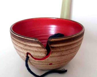 Yarn Bowl Red
