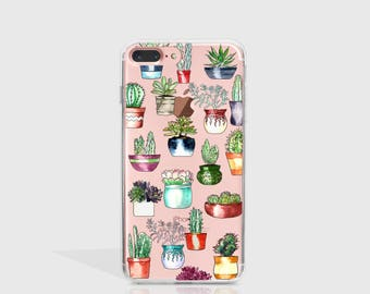 iPhone 7 Case Cactus, iPhone 7 Plus Case, iPhone 6 Case, iPhone 6S Case, Phone Case For iPhone, Birthday Gifts For Her, Tech Gifts -KT391