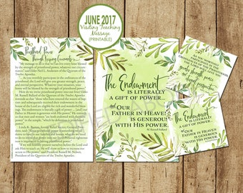 June 2017 Visiting Teaching Message--DOWNLOAD INSTANTLY