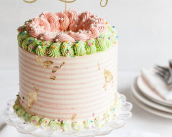 Anniversary cake topper, 25th Anniversary cake topper, anniversary party, anniversary party decorations, glitter cake topper