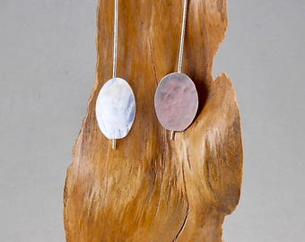 Honesty - sterling silver earrings