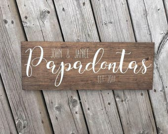 Personalized Family Established Wood Sign | Home Decor