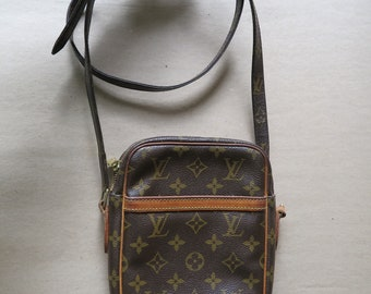 Vintage Louis Vuitton Danube Cross Body Bag.  Authentic. Marked Louis Vuitton Paris.  Made in France 2004. Date Mark SL0074.