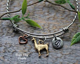 llama Bracelet, llama Jewelry, Pet llama, Llama Sympathy Gift, Llama Mama