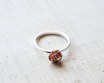 Rose Ring, Silver Rose Ring, Flower Ring, Mother's day Gift